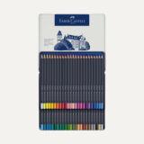 Faber-Castell Ξυλομπογιές Goldfaber Aqua , μεταλλική κασετίνα 48 χρωμάτων