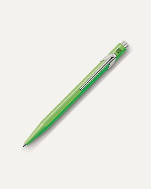 CARAN D'ACHE 849 METAL COLLECTION BALLPOINT PEN IN FLUORESCENT GREEN_800x1000